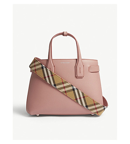 d2e352343351 ... BURBERRY New Banner small grained leather tote (Dusty+rose. PreviousNext