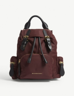 BURBERRY Small nylon cross-body rucksack