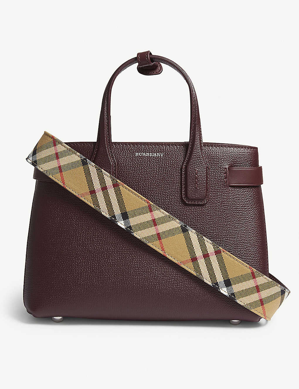 ad011d3ed5 BURBERRY - Banner small grained leather tote | Selfridges.com
