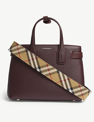 BURBERRY Banner small grained leather tote