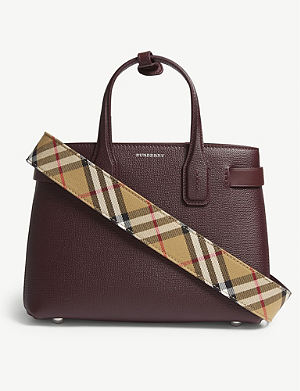 6eb69aa7b568 BURBERRY Banner small grained leather tote