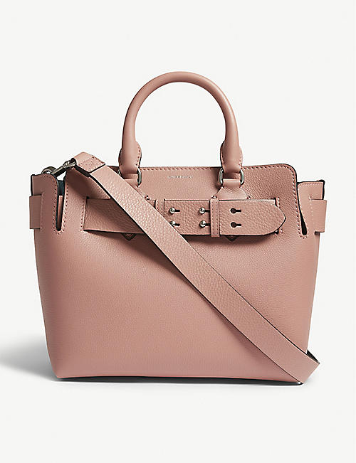 2f8642293050 BURBERRY Marias small grained leather tote