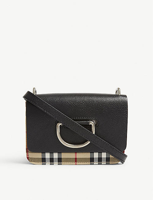 3acb5b136ab0c7 BURBERRY The Mini vintage check leather cross-body bag