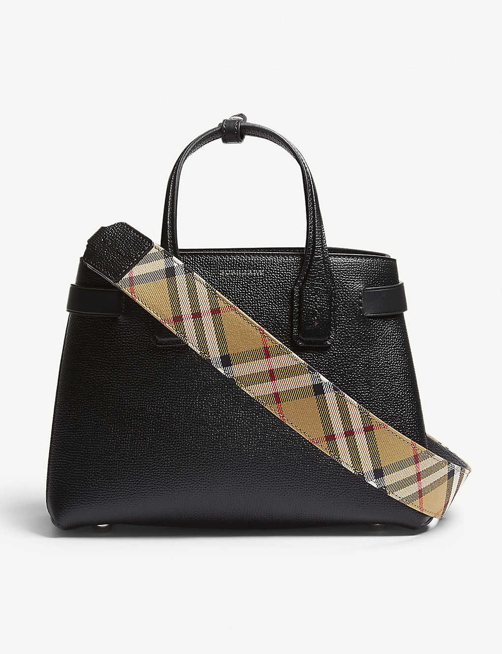 c86b260f2a BURBERRY - Banner small grained leather tote | Selfridges.com