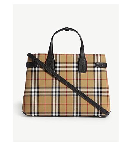 ... BURBERRY Medium Banner tote bag (Black. PreviousNext b5cf62a016ff8