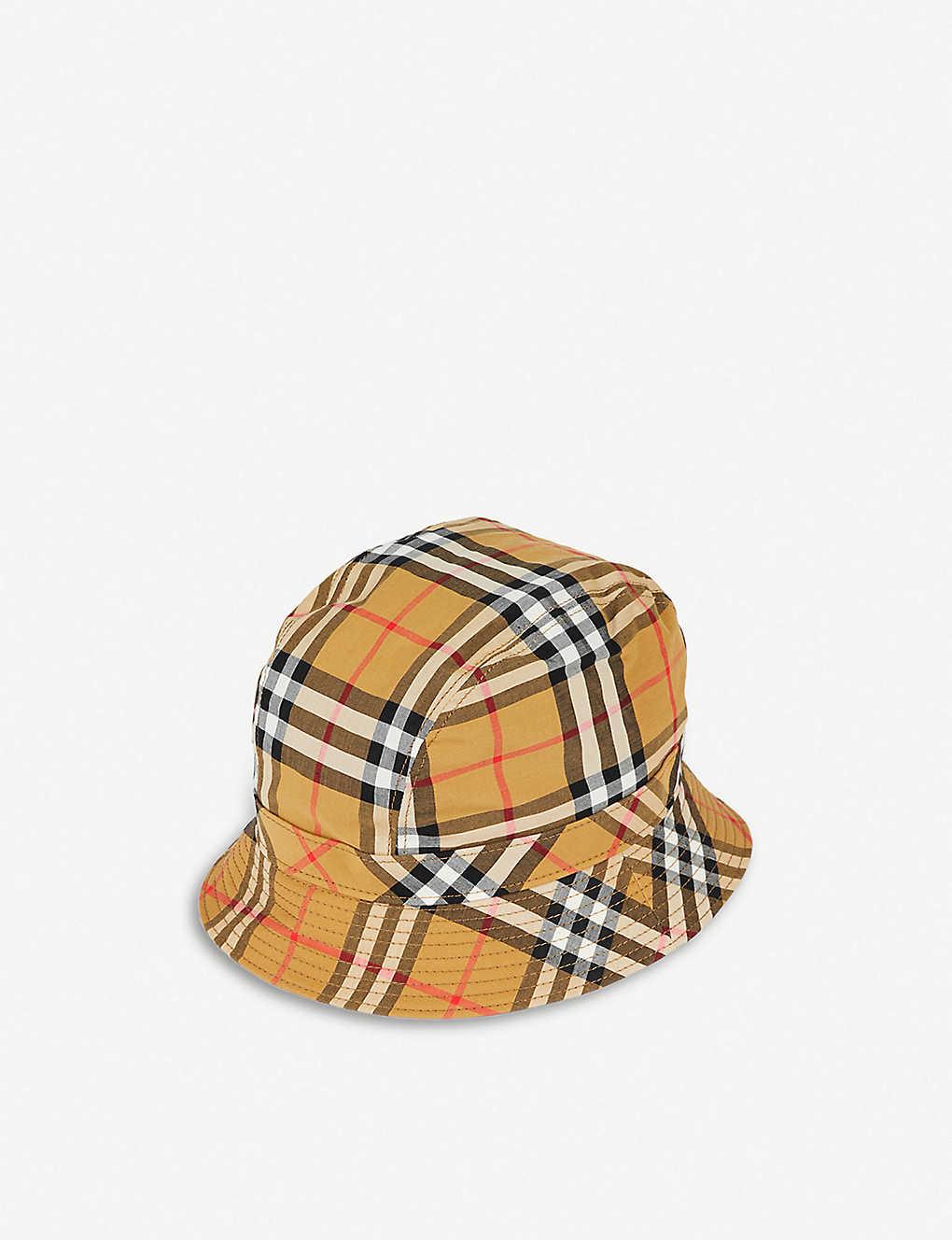 e8c61b046e6f44 BURBERRY - Vintage Check bucket hat | Selfridges.com