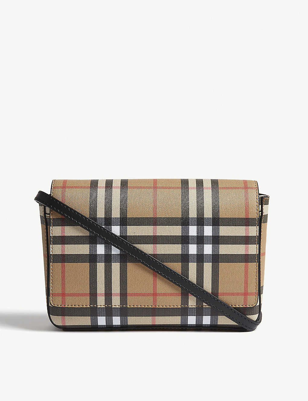 1b50f63e1fb7 BURBERRY - Hampshire vintage check leather cross-body bag ...
