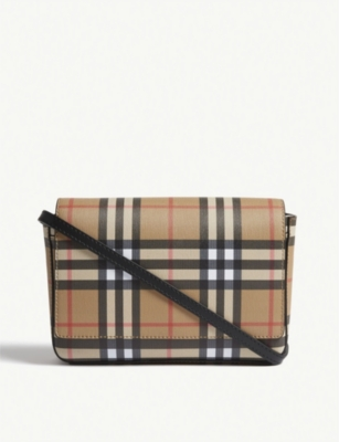 BURBERRY Hampshire vintage check leather cross-body bag