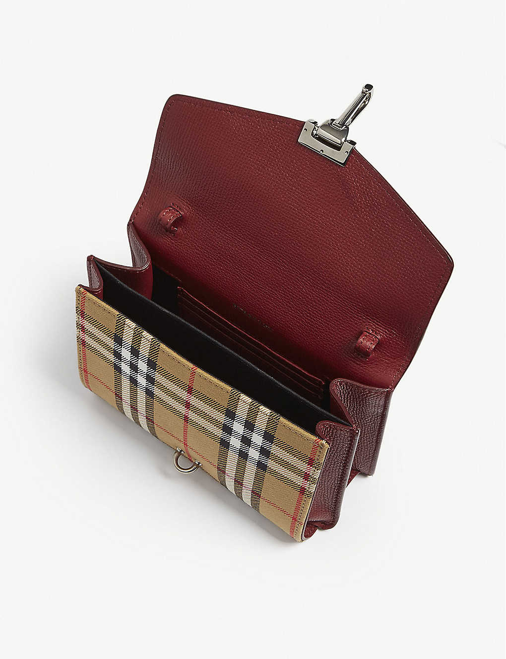 291c7efdd5bb BURBERRY - Macken Vintage check and leather mini crossbody bag ...