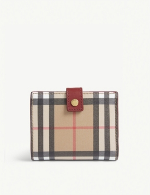 BURBERRY Lakeside check small wallet