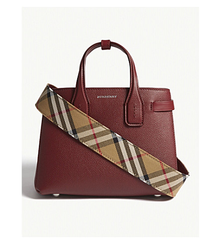 e7af34749194 ... BURBERRY Baby Banner leather tote (Crimson. PreviousNext