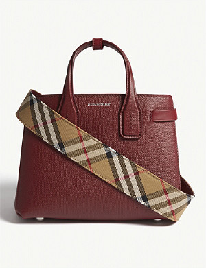 BURBERRY Baby Banner leather tote