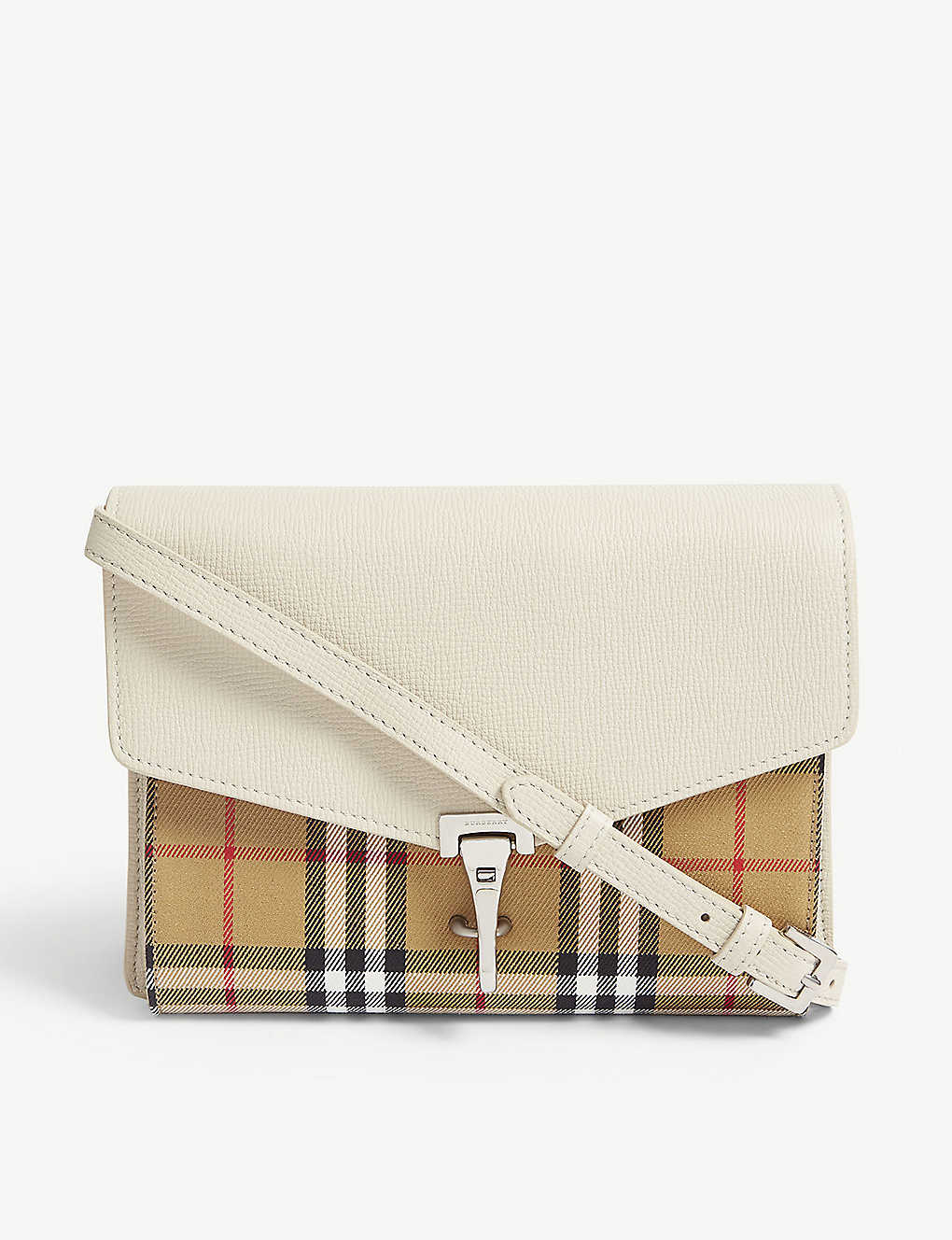 af025690f0 BURBERRY - Macken Vintage check and leather mini crossbody bag ...