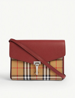 BURBERRY Macken leather shoulder bag