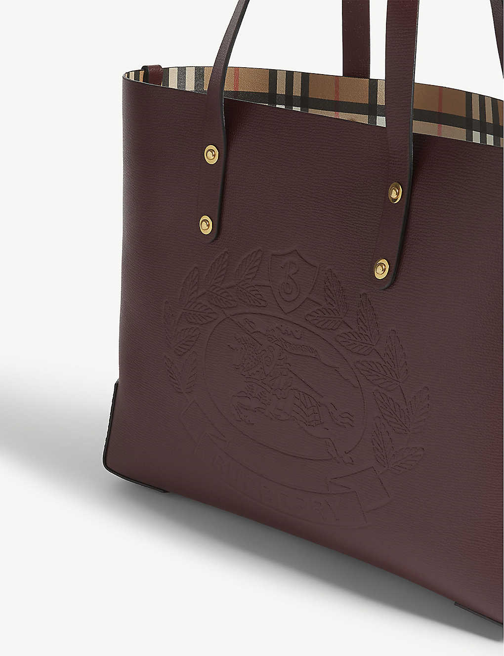 bbb79421cb80 Embossed crest leather tote  Embossed crest leather tote ...