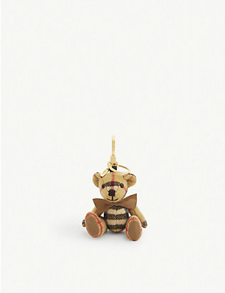 BURBERRY: Thomas Bear cashmere check keyring