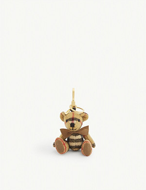 BURBERRY Thomas Bear cashmere check keyring