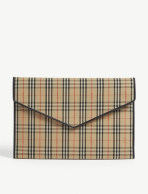 BURBERRY Large envelope clutch