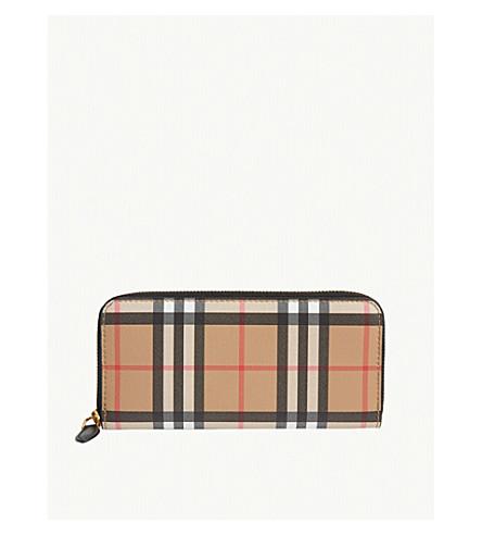 9d9b660c65f4 BURBERRY Leather vintage check wallet (Black