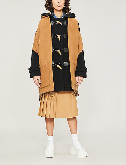 BURBERRY Helene wool and cashmere cape
