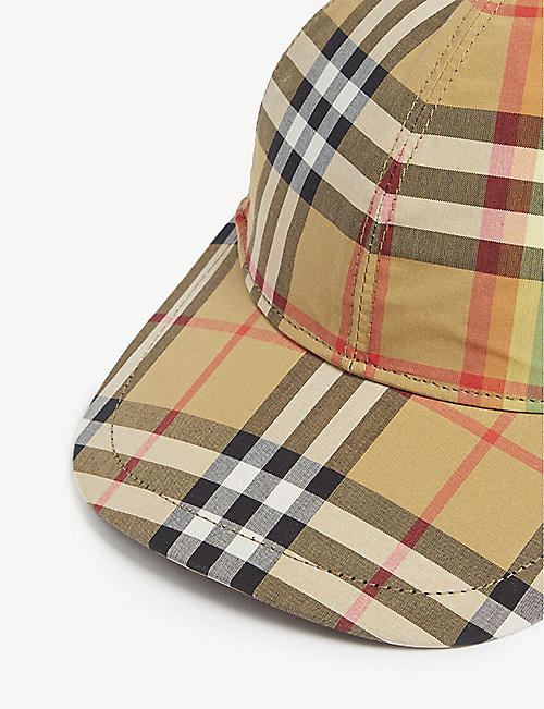 BURBERRY Rainbow Vintage check cotton cap