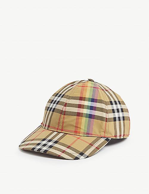 015403a9 BURBERRY - Rainbow Vintage check cotton cap | Selfridges.com