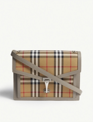 BURBERRY Small vintage check cross-body bag