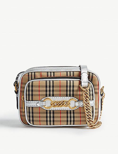 BURBERRY 1983 check leather cross-body bag 87c615a97e0