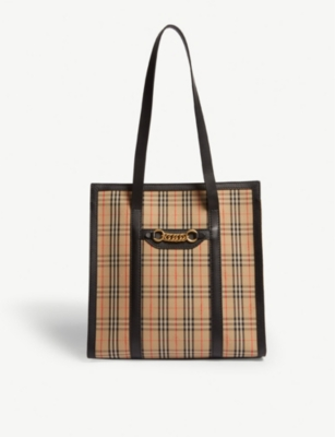 BURBERRY Link cotton shopper