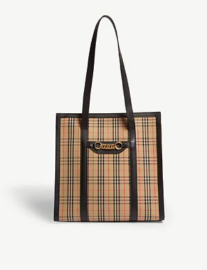 4702449f0e18 Equestrian knight leather belt bag. BURBERRY Link cotton shopper. BURBERRY.  Link cotton shopper. BURBERRY Banner medium grained ...