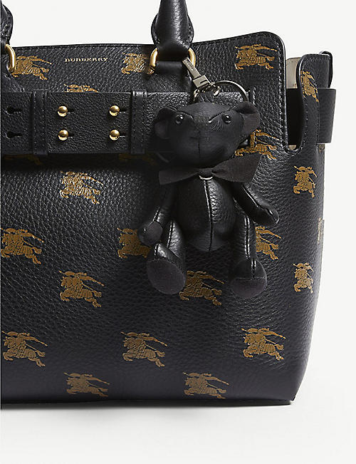 BURBERRY Leather Thomas Bear keyring