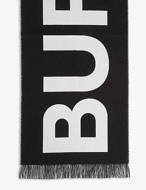 BURBERRY Wool logo scarf