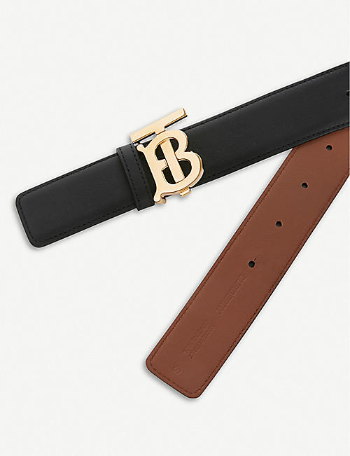 BURBERRY Monogram Motif reversible leather belt