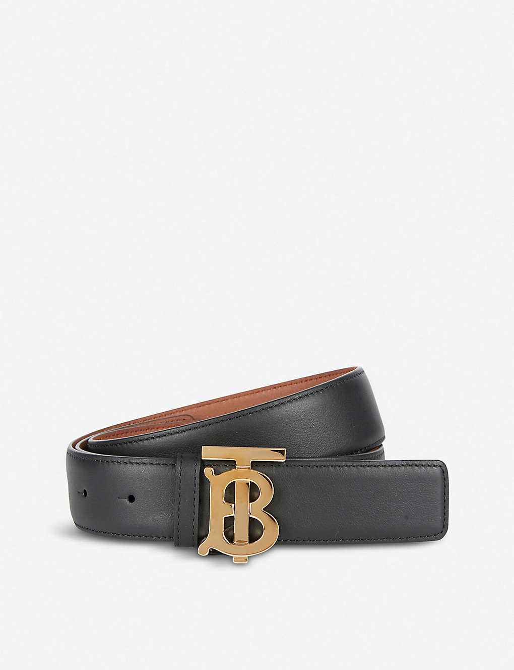 87aa944b9 BURBERRY - Monogram Motif reversible leather belt   Selfridges.com