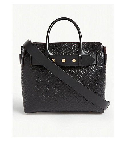 49b0bd03092 BURBERRY - Embossed logo leather shoulder bag | Selfridges.com