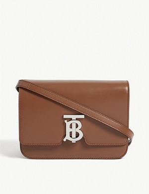 2a6f4907b5e7 BURBERRY - Equestrian knight leather belt bag