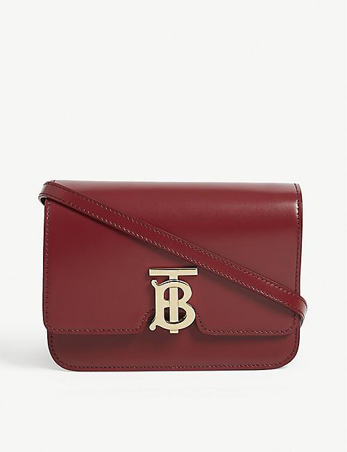 dafd734051df BURBERRY Logo leather shoulder bag