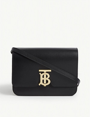 BURBERRY Logo leather shoulder bag