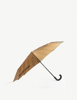 BURBERRY Trafalgar check print umbrella