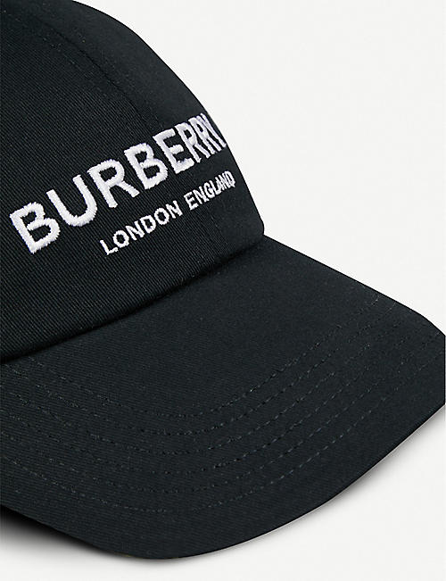74f0548af265a BURBERRY Branded cotton snapback cap