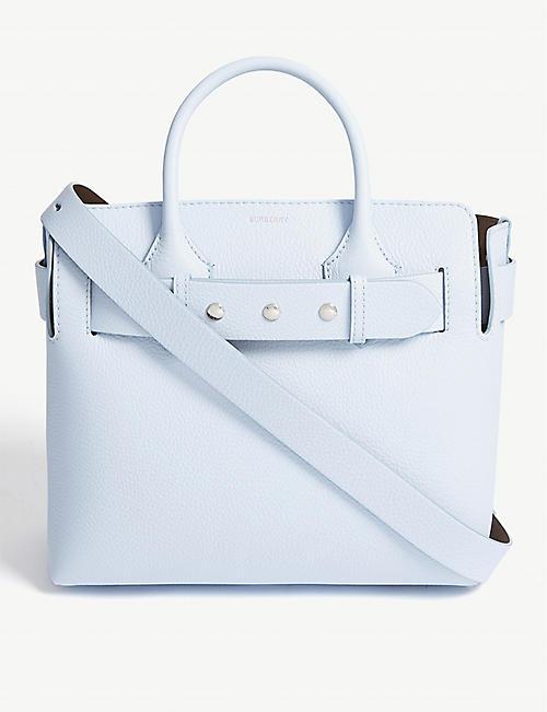 BURBERRY Grained leather small belt bag a07152eeba1d1