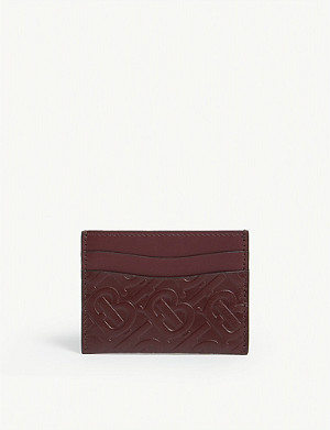 BURBERRY Monogram leather card holder