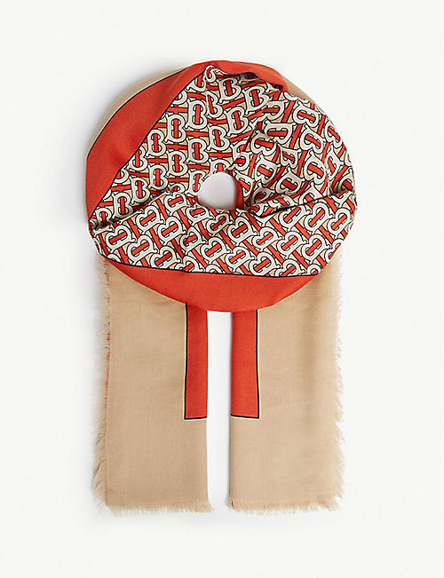 BURBERRY Monogram cashmere scarf 75804846b2