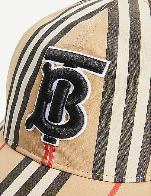 972191c491fe4 BURBERRY Icon Stripe logo-embroidered cotton baseball cap