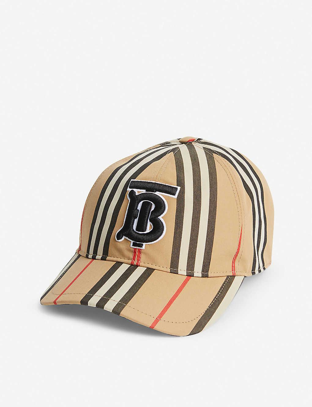 9e045671939ef Icon Stripe logo-embroidered cotton baseball cap - Archive beige ...