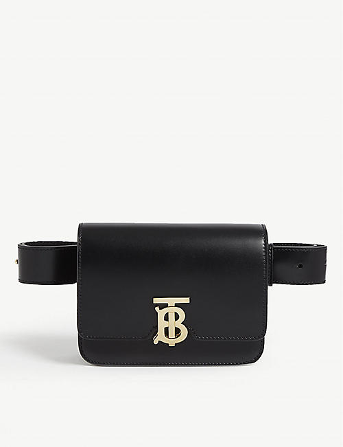BURBERRY TB logo leather belt bag