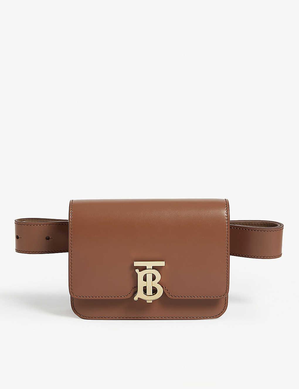 c0b835107b BURBERRY - TB logo leather belt bag | Selfridges.com