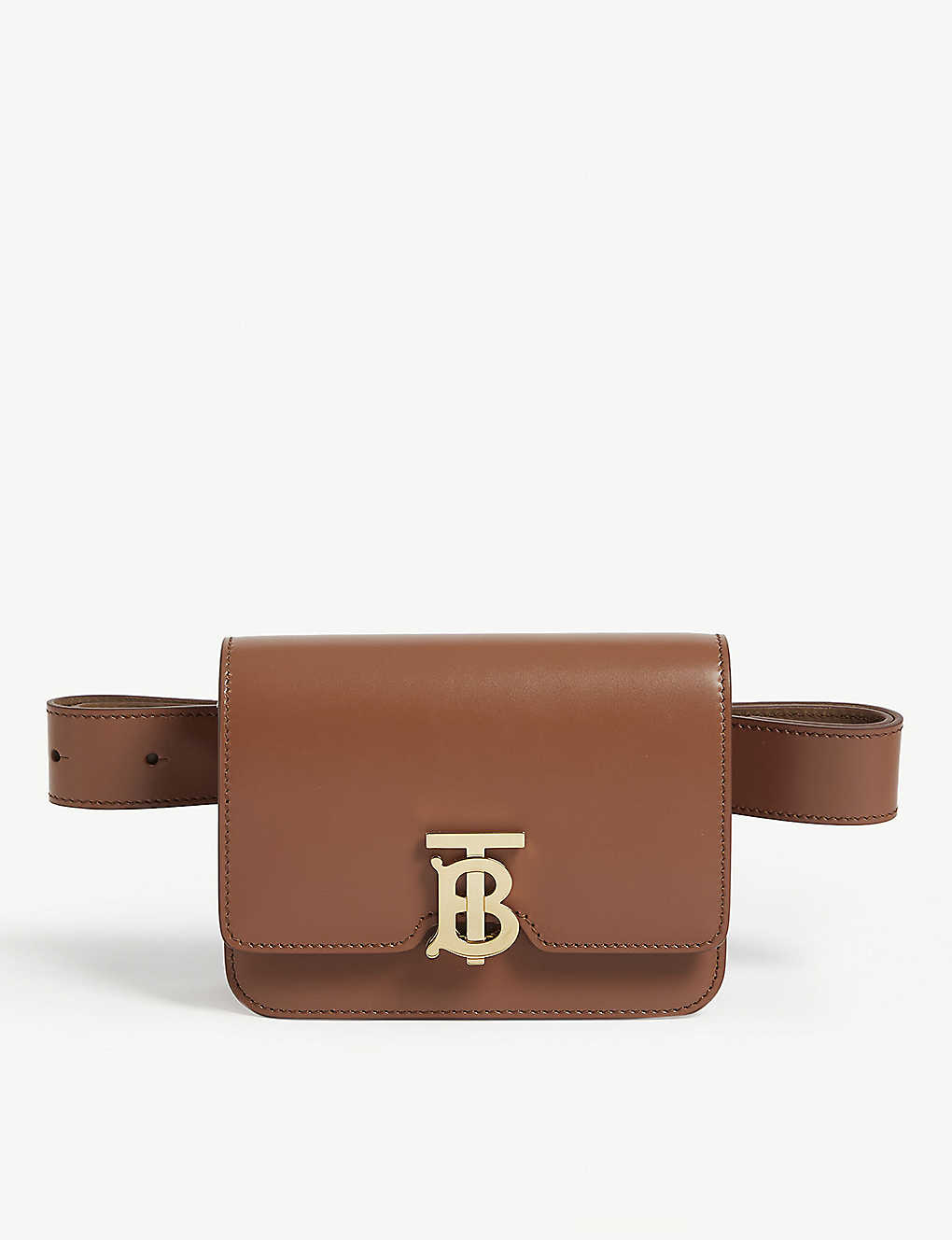 BURBERRY: TB logo leather belt bag