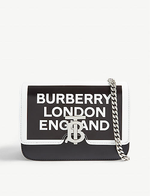 368a14ee357 BURBERRY Monogram clasp leather cross-body bag