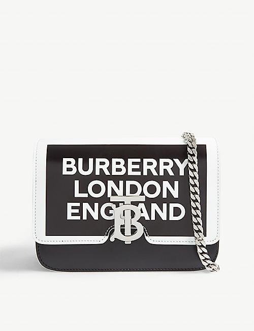 24ce4cf99755 BURBERRY Monogram clasp leather cross-body bag